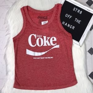 """NWT Coca Cola red muscle tee """"Enjoy Coke"""" size XS"""